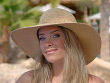 jessica models for cabo hats on location in cabo san lucas mexico