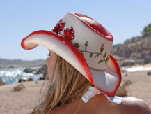 jessica models hats on location in cabo san lucas mexico