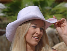 michelle models cabo hats on location in cabo san lucas mexico
